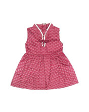 HEY! BABY May's Cheongsam Dress - Maroon Polka