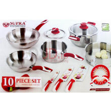 SUPRA Cookware Set Alat Masak 10 pcs Impact (I Love Indonesia) (SP-10PC-IM)
