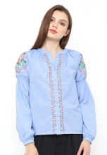 INSTYLE BY SURI Lala Top - Blue All Size