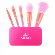 MEKO Sweet Pink Makeup Brush Kit [50gr]