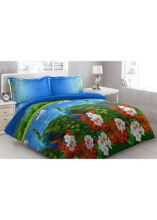 Sprei Bantal 2 Vito Disperse 180x200cm Peacock - Blue