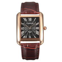 Zanzea CHENXI Couple Watch Leather Stainless Steel Watch Square Watches White