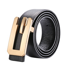 SiYing Original imported fashion men's belt business kraft buckle belt