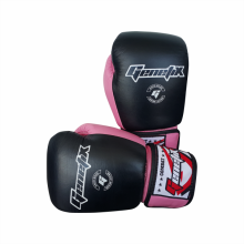 GENETIX Boxing Gloves COMBAT Leather GBG4L PinkBlack