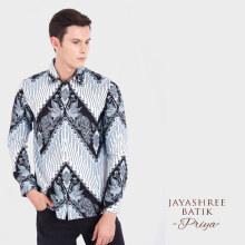 JAYASHREE BATIK Slim Fit Long Sleeve Priya - White