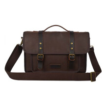 Troop London Leather Bag Q1025  Brown