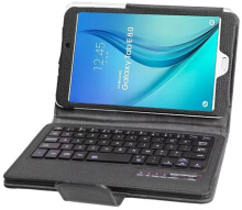 Smatton For Samsung Tab E 8.0 inch T377 Folding Bluetooth Wireless keyboard Ultra Thin Leather Tablet T377