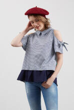 Point One VAIRA navy blouse