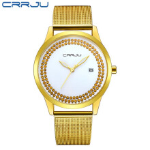 Fashion Quartz Watch Waterproof High Quality Stainless Steel Band Mesh Belt Ladies Relogio Feminino