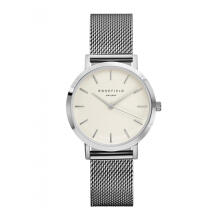 ROSEFIELD The Tribeca Silver White Dial Watch with Silver Strap [TWS-T52]
