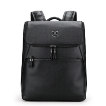 Wei's Men's Choice Fashion Backpack Leather Backpack Trend Backpack Best-selling Backpack fdk0315 Black