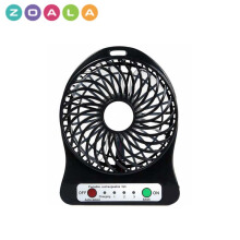 ZOALA Kipas Angin Mini Portable Travel - Portable Mini Fan - Hitam-MF-FS-B