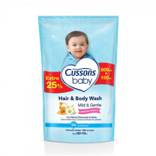 Cussons Baby Hair and Body Wash Mild & Gentle  - 600+150 ml