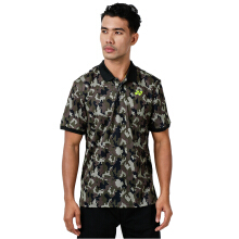 YONEX Men's Polo T-Shirt - Burn Olive
