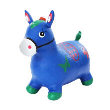 Kaptenstore New Jumping Animal Musik Tunggangan Kuda Karet Warna Biru Blue