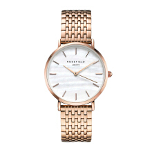 ROSEFIELD The Upper East Side Rose Gold White Dial Watch with Rose Gold Strap [UEWR-U20]