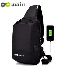Mairu XD-V2 Tas Selempang Pria Anti Maling Messenger Crossbody Sling Bag Import With USB Charger Port