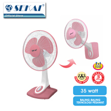 SEKAI Desk Fan/Wall Fan 2IN1 12