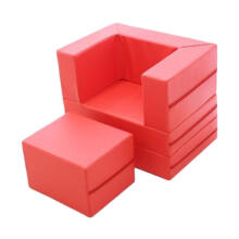 Foldaway 3 Combo Sofa Red Red