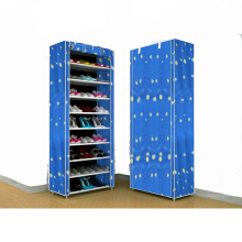 Shenar Rak Sepatu Portable Multifungsi _shelves Blue Star