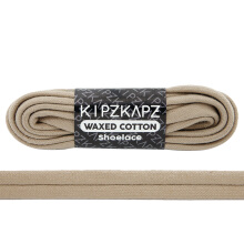 KIPZKAPZ WS32 Waxed Cotton Flat Shoelace - Beige [6mm]