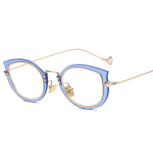 SiYing fashion personality cat eyes ultra light women's flat frame glasses frame