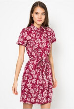 Point One SAKURA Shirt Dress - Red