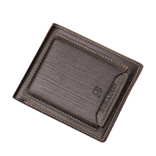 Baellerry Men's Original Imported Leather Wallet New Casual Multi Card Short Wallet
