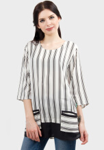 Point One IDARA Modern Blouse - Black