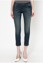 Point One JEANE Cropped Skinny 7/8 Dark Blue Jeans