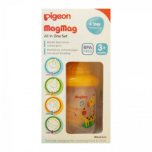 Pigeon Mag Mag All in One Set Training Cup 3m+ - Giraffe