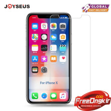 JOYSEUS 3D Full Cover Tempered Glass For iphone X TRANSPARENT glass Screen Protector Glass Full Cover Curved Edge 1 Pack-Transparan