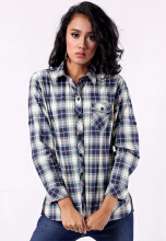 Point One IMANIAR Navy Plaid - Black