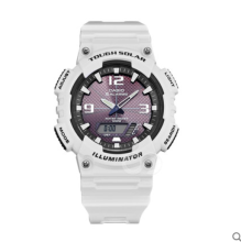 Casio TOUGH SOLAR AQ-S810WC-7A Sports double display waterproof electronic watch-White