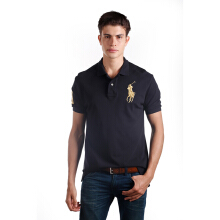 POLO RALPH LAUREN - Mesh Polo Shirt Lacoste Black Men