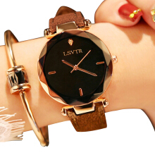 LSVTR Import original fashion ladies watch Rhinestone Korean fashion quartz watch leather belt