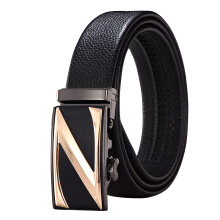 SiYing Original imported fashion men's belt business leather automatic buckle belt