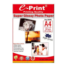 E-PRINT Glossy Photo paper A4 180gsm 20 Sheets