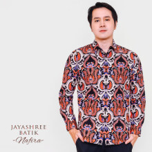JAYASHREE BATIK Slim Fit Long Sleeve Nafira - Black