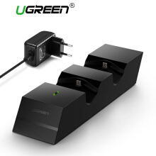 UGREEN Charger for PS4 Controller PS4 Charging Station, 2.5 Hours Full Charge for 2 Controllers, DualShock 4 Charger Dock for PlayStation PS4 Slim, PS4 Pro Controller(1.5M Cable with AC adapter) Black