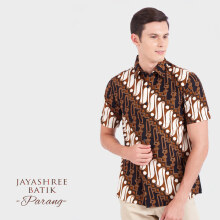 JAYASHREE BATIK Slim Fit Short Sleeve Parang - Black