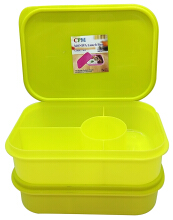 Moniva Lunch Box Set of 2 pcs Hijau Lemon Green Lime