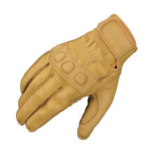 KOMINE GK-720 Vintage Leather Gloves Sarung Tangan Motor - Beige