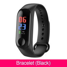 Santac M3 Smart band blood pressure IP68 waterproof sleep monitor pedometer heart rate watch for iOS Android Black