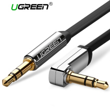 UGREEN 3.5mm Auxiliary Audio Jack to Jack cable 90 Degree Right Angle Black