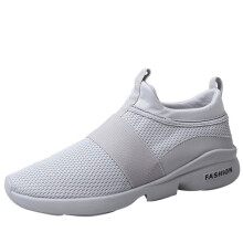 BESSKY Men's Fashion Sneakers Beathable Mesh Shoes Wild Slip-on Casual Shoes_