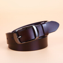 Keymao fashion British style two-layer leather leisure belt men's leather pin buckle belt youth belt