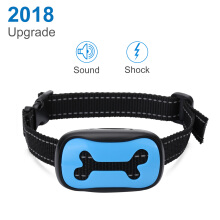AOSEN Vibration and Warning Sound Dog Collar  Blue