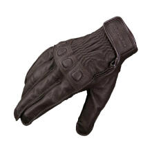 KOMINE GK-720 Vintage Leather Gloves Sarung Tangan Motor - Dark Brown