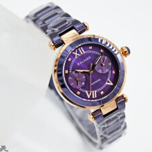 Balmer B.7897LBWN-JNHD32H725-PRLRG Cronograph Stainless Steel Jam Tangan Wanita Purple Rose Gold Purple Rose Gold